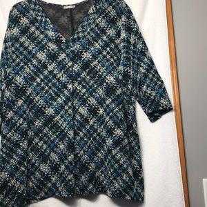 3X Catherine's 3/4 sleeve V Neck Tunic Polyester